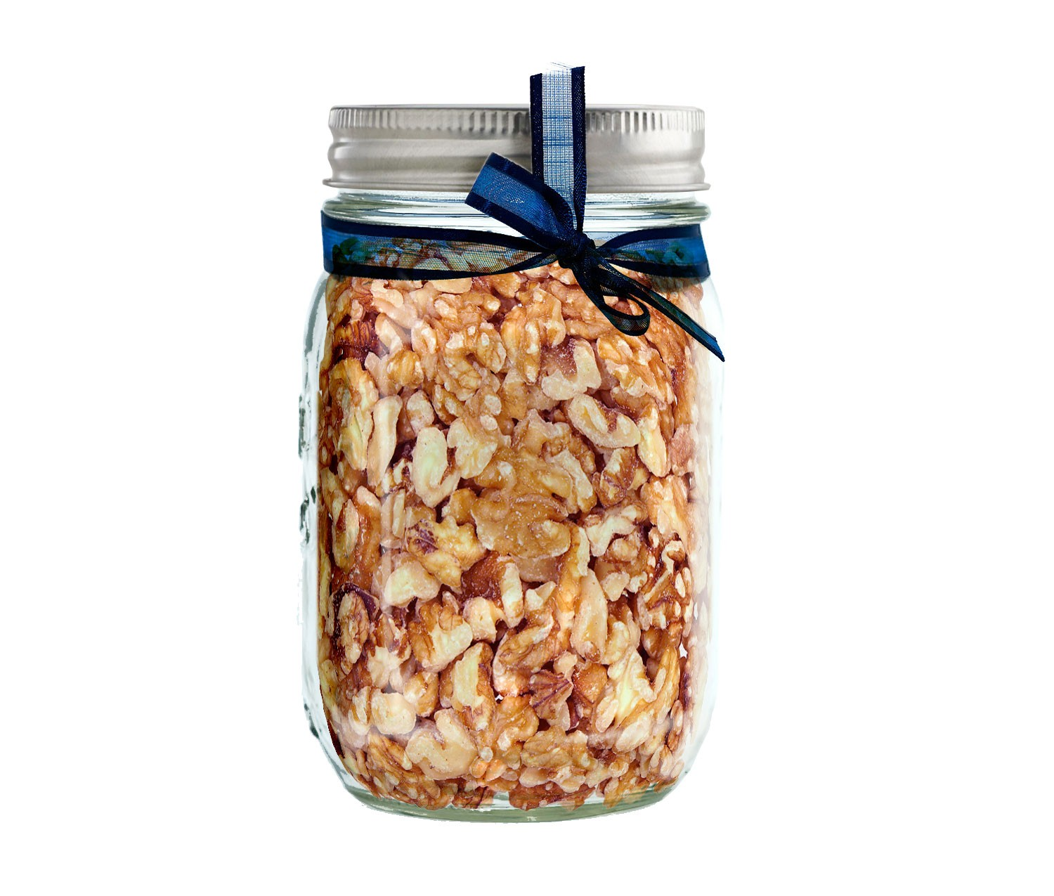 Walnut Halves Mason Jar